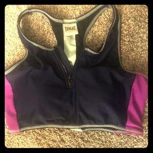Everlast zippered sports bra